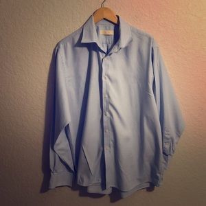 MICHAEL KORS Blue Dress Shirt 32/33 Neck 17 1/2